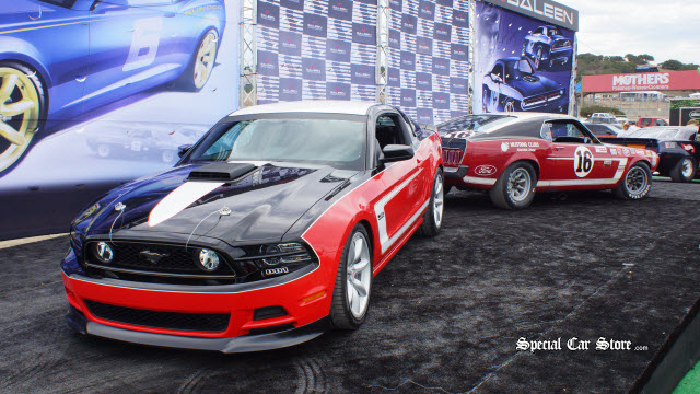 Saleen George Follmer Mustang with the new limited edition Steve Saleen Unveiled at Mazda Raceway