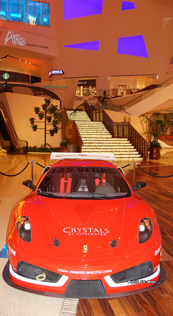 Ferrari F430 GR Race Car On Display At Crystals At City Center Next To The  Aria
