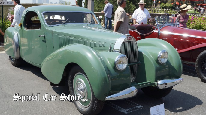 Classic Bugatti at Greystone Mansion Concours d'Elegance 2012