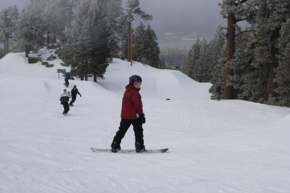 Family Snow Boarding Big Bear
