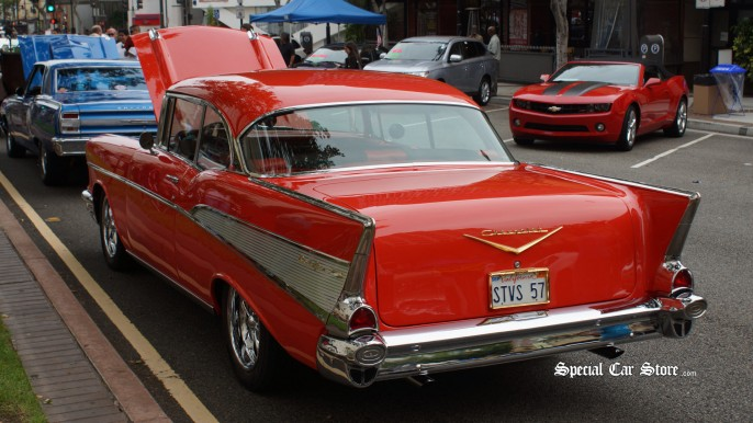 1957 Chevrolet Bel Air at the Glendale Cruise Night