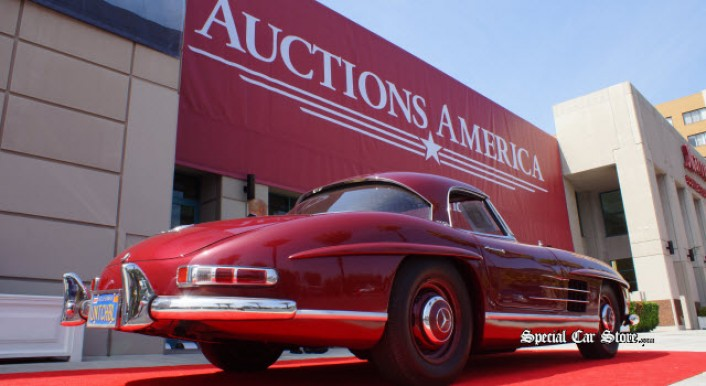 1957 Mercedes-Benz 300SL Roadster at Auctions America California at the Marriott Burbank Airport Hotel 2013