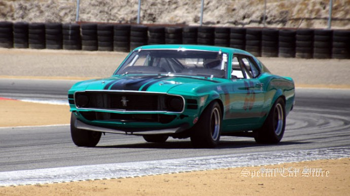 1970 Ford Mustang Boss 302: competitor at Rolex Monterey Motorsports Reunion Monterey Car Week