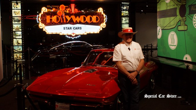 Mike Yager with 1964 Chevrolet Corvette New York World's Fair Show Car