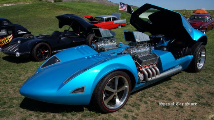 Real-life Mattel Hot Wheels: Twin Mill at the 22nd Annual Palos Verdes Concours d'Elegance