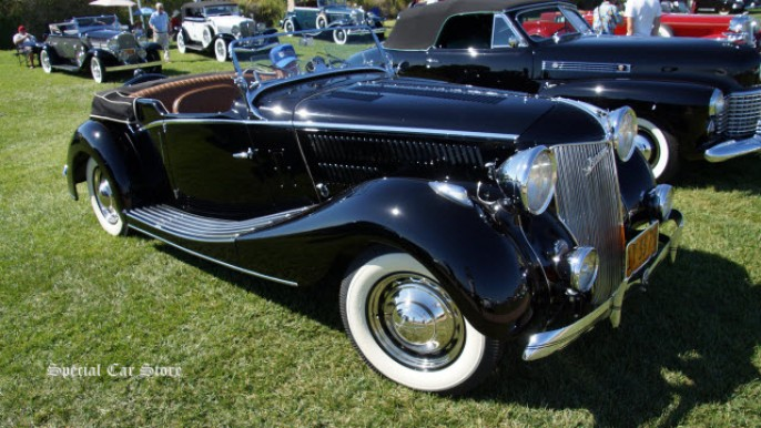 1936 Jensen Ford Tourer at the 22nd Annual Palos Verdes Concours d'Elegance