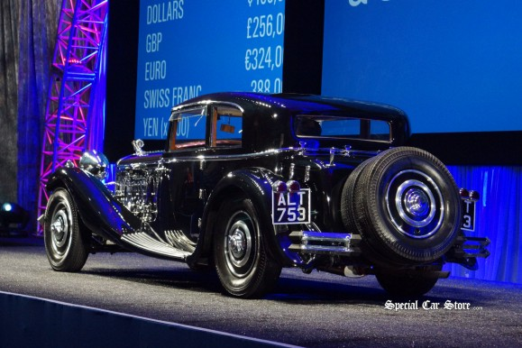 1933 Delage D8S Coupe crossing the block at Gooding and Company Pebble Beach Auction 2012