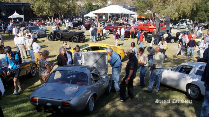On the faculty field at Art Center Car Classic 2013