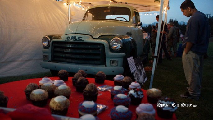 Muffins in the truck at Steve McQueen Car & Motorcycle Show