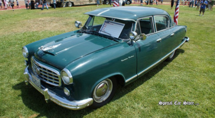 1955 Rambler Custom at Steve McQueen Car and Motorcycle Show 2013
