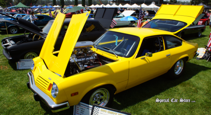 1974 Chevy Vega  at Steve McQueen Car and Motorcycle Show 2013
