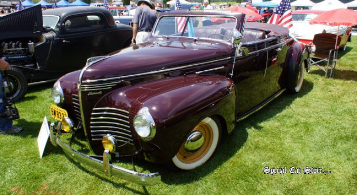 1940 Plymouth Convertible at Steve McQueen Car and Motorcycle Show 2013