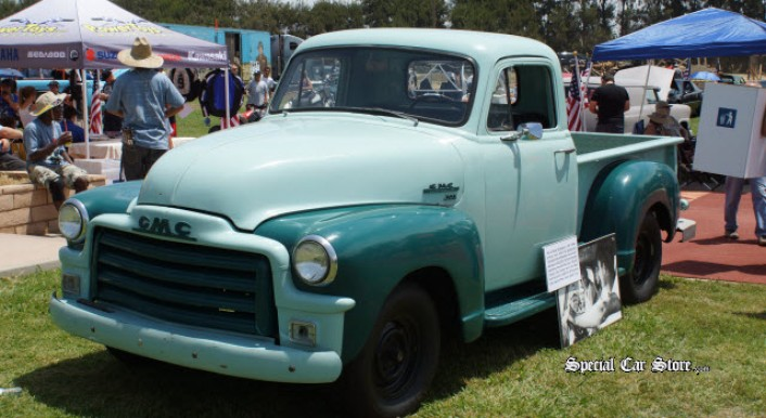1951 GMC Pickup Truck donated to Boys Republic by Steve McQueen at Steve McQueen Car and Motorcycle Show 2013