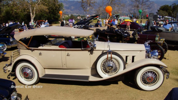 "1930 Packard 7-45 Dual Cowl Sport ""Singin' in the Rain"" car at Art Center Car Classic 2014"