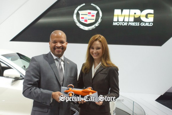 MPG President Presents Car of the Year Award LA Auto Show 2012