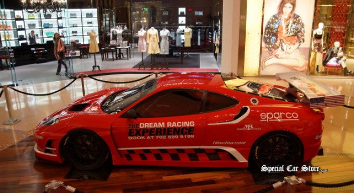 Ferrari F430 GT Race Car On Display At Crystals At Citycenter Next To The  Aria Resorts