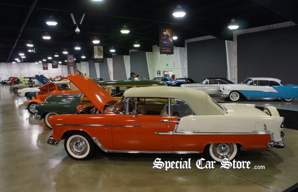 1955 Chev Bel Aire 2 Door Convertible at Barrett-Jackson Orange County Auction 2012