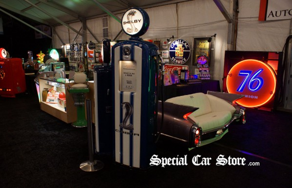 Shelby Antique Gas Pump Barrett Jackson Auction
