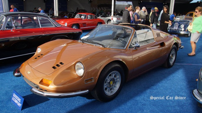 1974 Ferrari Dino 246 GTS sells at Gooding and Company Auction Pebble Beach 2015