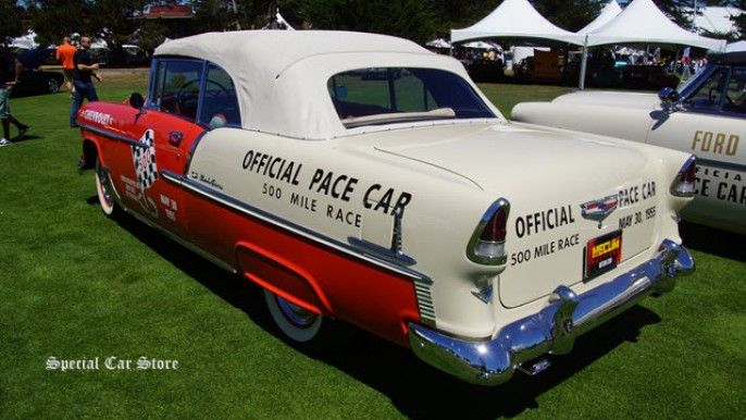 1955 Chevrolet Bel Air Convertible sells at Mecum Auctions Monterey 2015