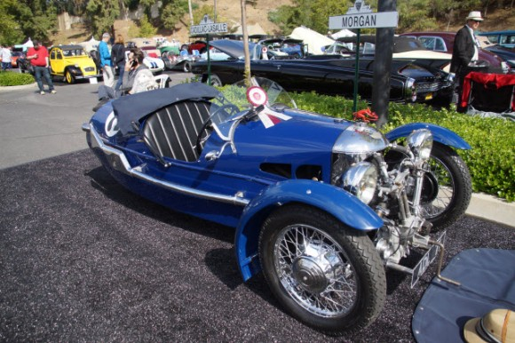 1935 Morgan Supersport wins Best in Class at Greystone Mansion Concours d'Elegance Beverly Hills CA