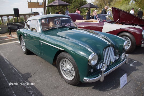 1957 Aston Martin DB 2/4 Mk II Fixed Head Coupe at Greystone Mansion Concours d'Elegance 2016