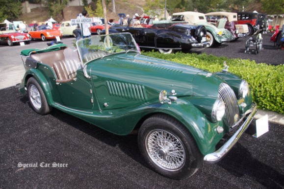 1955 Morgan 4 Passenger Drophead Coupe at Greystone Mansion Concours d'Elegance 2016