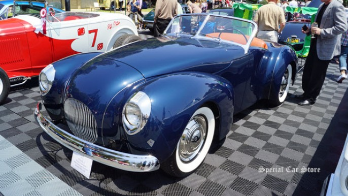 1940 Coachcraft Roadster at Greystone Mansion Concours d'Elegance 2012