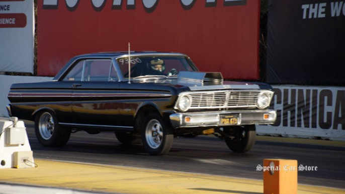 1964 Ford Falcon at Irwindale Dragstrip