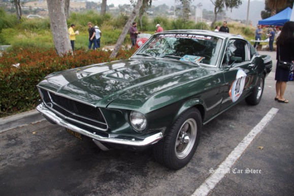 1968 Ford Mustang Fastback at The Steve McQueen Inaugural Car Rally