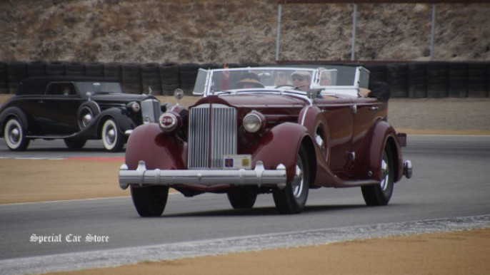 1935 Packard 1207 Twelve Sport Phaeton at Pebble Beach Tour d'Elegance 2014