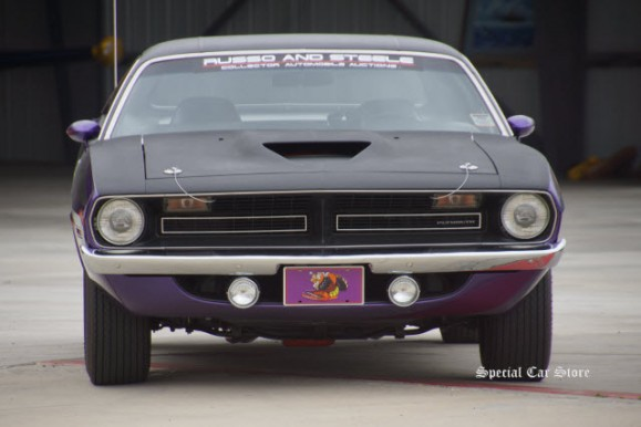 1970 Plymouth Cuda at the inaugural Steve McQueen Rally Fundrasier