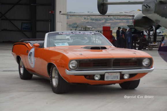 1970 Plymouth Cuda convertible at The Steve McQueen Inaugural Car Rally