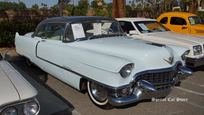 1955 Cadillac Coupe De Ville at McCormick's Palm Springs Collector Car Auction 56