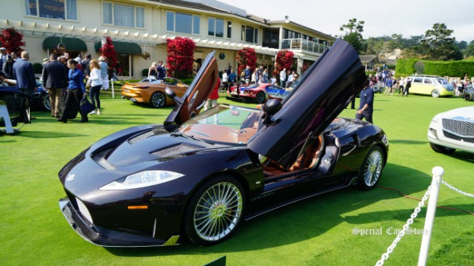 Spyker C8 Preliator Spyder at Pebble Beach Concours d'Elegance 2017
