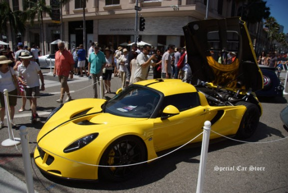 2014 Hennessey Venom GT Spyder at Rodeo Drive Concours d'Elegance 2016
