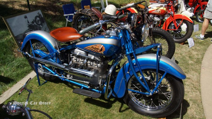 1939 Indian 4 at Greystone Mansion Concours d'Elegance 2014