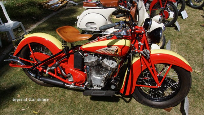 "1939 Indian ""Sport Scout"" at Greystone Mansion Concours d'Elegance 2014"