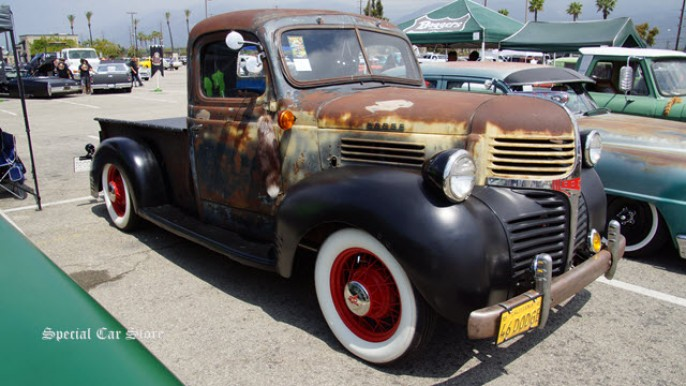 1946 Dodge pickup at MoonEyes Car Show and Drag Race at Irwindale Speedway 2014
