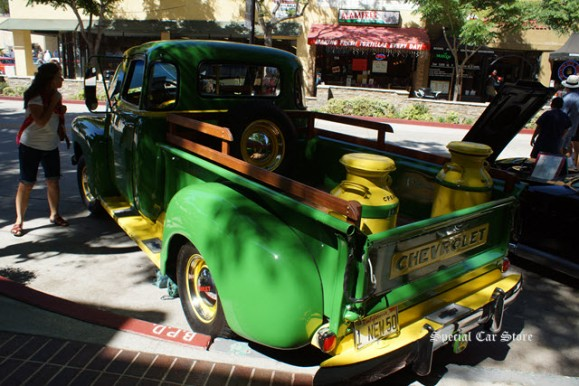 1950 Chevy 5 window pick up. 3100 1/2 ton at Downtown Burbank Car Classic 2012