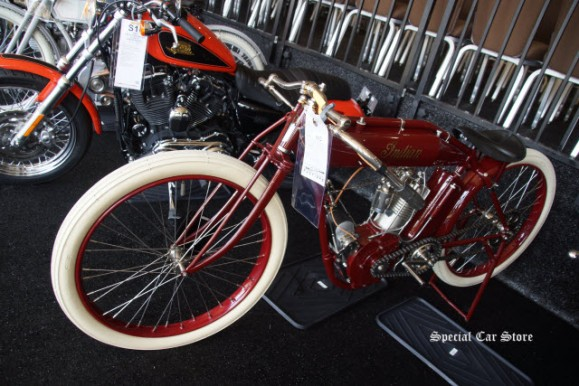 1913 Indian Single Board Track Racer sold at Mecum Auction Monterey 2016