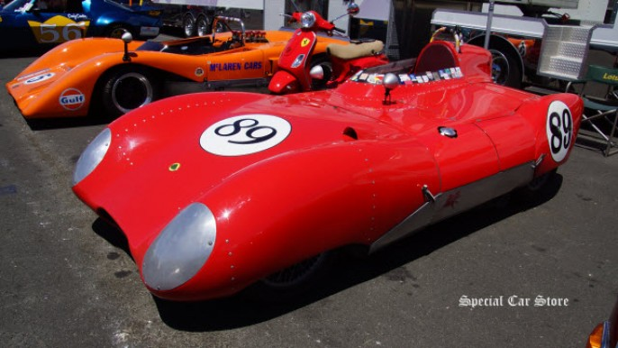 1956 Lotus Eleven Historic Race Car No 89 at Sonoma Raceway Historic Motorsports Festival 2015