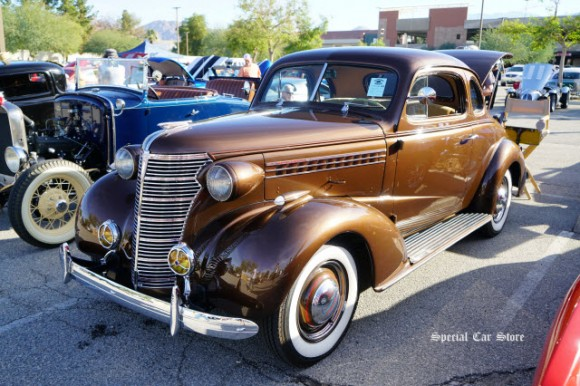 1938 Chevrolet Coupe at Palm Springs Cruisin' Association Car Show 2017