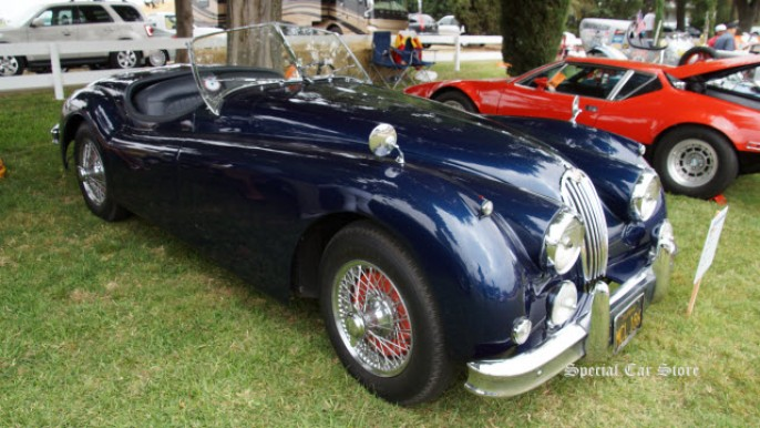 1956 Jaguar XK 140 MC: 45k original miles at Steve McQueen Car Show 2014