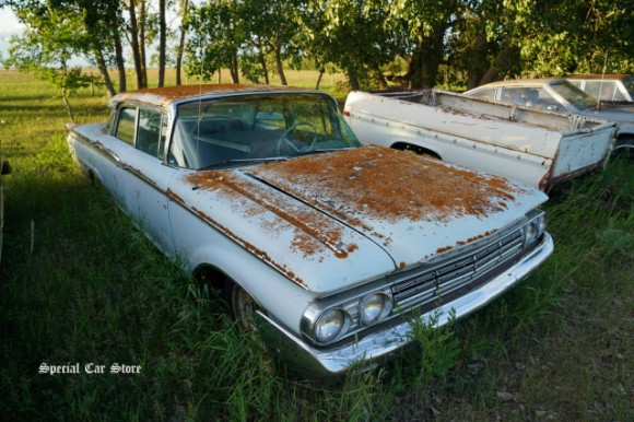 1960 Mercury Monarch 4 door prairie survivor in Saskatchewan Canada 2017