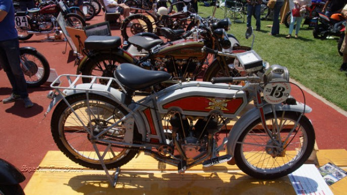 1913 Excelsior Twin Cannonball at Steve McQueen Car and Motorcycle Show 2015