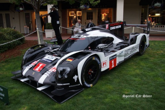 2016 Porsche 919 Hybrid LMP1 Racer on the eve of Pebble Beach Concours d'Elegance 2016