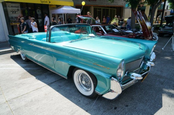 1958 Lincoln Continental Mark III at Downtown Burbank Car Classic 2017
