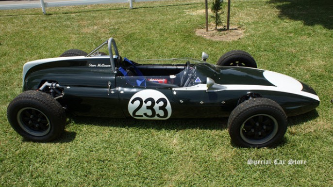 1961 Cooper T-56 European F-Junior Champion owned/raced by Steve McQueen at Steve McQueen Car Show 2013