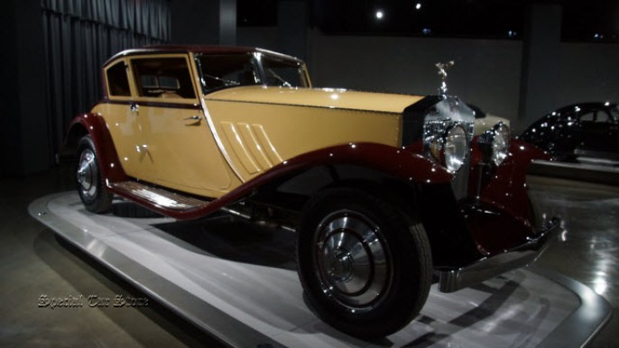 "1930 Rolls-Royce Phantom I ""Windblown"" Coupe by Brewster and Co. at Peterson Automotive Museum"